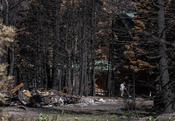 Home burned in the Spring Creek Fire